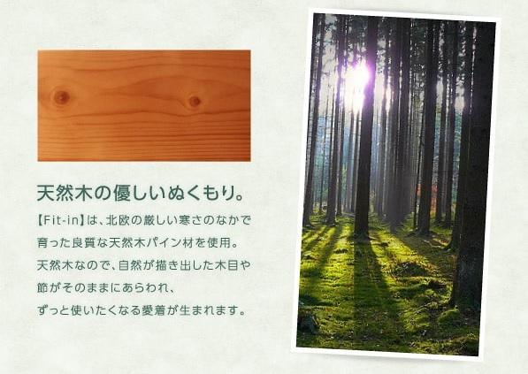 収納ベッドシングル通販 天然木木目収納ベッド『コンセント付き天然木すのこ&収納ベッド 【Fit-in】フィット・イン』