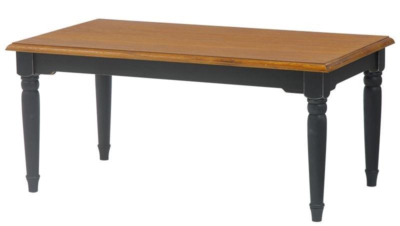 シャビーシックなベッドに似合うシャビーシックなローテーブル『テーブル ブロカントシリーズ 木製 黒』