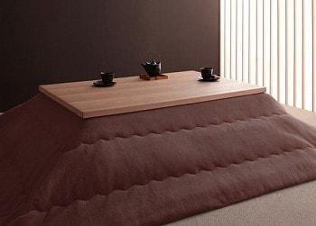 おススメのこたつ『天然木アッシュ材 和モダンデザインこたつテーブル【CALORE】カローレ』