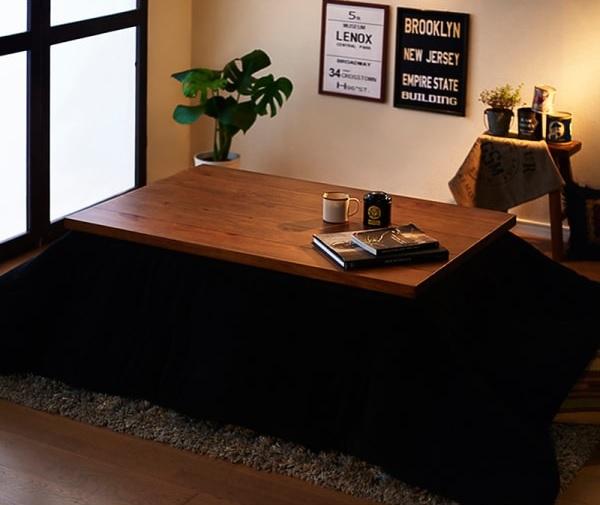 こたつでも男前『天然木パイン材 男前ヴィンテージデザインこたつテーブル【Patrida】パトリダ』