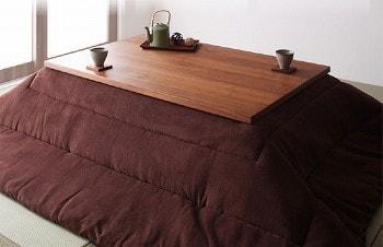 おススメのこたつ『天然木ウォールナット材 和モダンこたつローテーブル【STRIGHT】ストライト』
