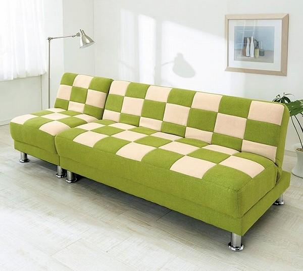 ブロックチェック柄ソファーベッド