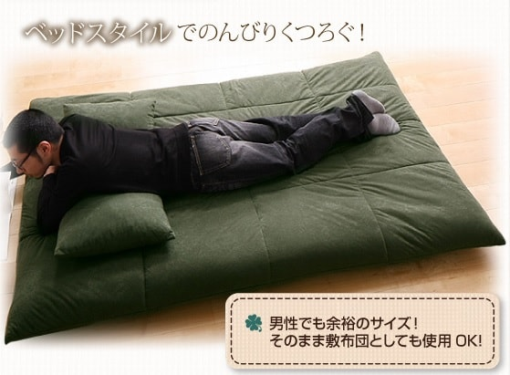 大きいソファーベッド セミシングル相当『うたた寝できるカバーリングフロアソファベッド』ロータイプ