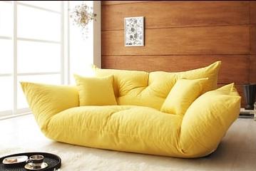 黄色いソファー 黄色いカウチソファー『フロアカウチソファ【Anis】アニス』