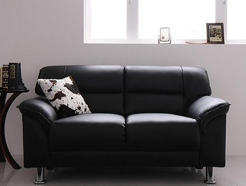 ソファー下の空間がなく重厚なシンプルソファー『シンプルモダンシリーズ【BLACK】ブラック』