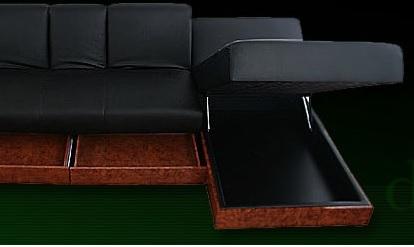 モダンソファー通販 多機能ソファーの収納を使う『デザインマルチソファベッド【Blitz】ブリッツ』