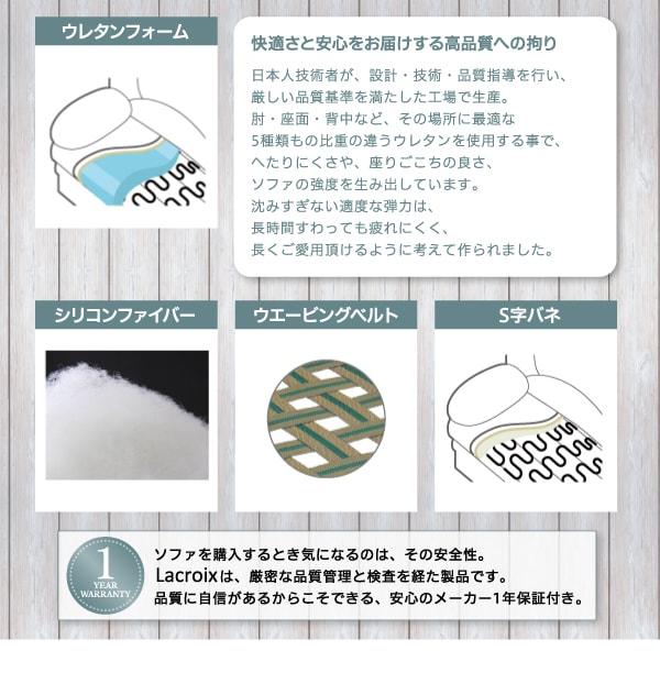 モダンソファー通販『ラウンドデザイン コンパクト片肘カウチソファ【Lacroix】ラクロワ』