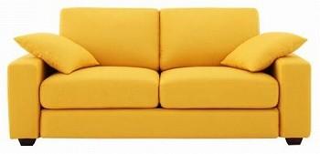黄色いソファー シンプルソファー『【LeJOY】リジョイ ワイドタイプ ハニーイエロー』
