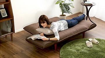 ベッド丈170cm!女性のお昼寝用の小さなソファーベッドとしてキープか?『コンパクト3wayカウチソファ【Thun】トゥーン』