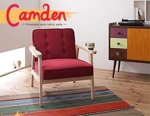 【MONO-BED】モノ・ベッドに合わせたい、男前インテリア『木肘レトロソファー【Camden】カムデン』