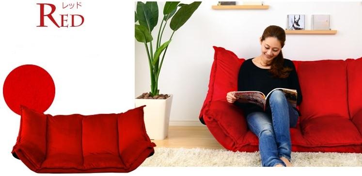 『赤いソファー 通販』赤いソファーのある部屋