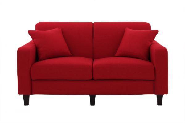 赤いソファー通販 シンプルソファ『【Colorful Living Selection LeJOY】リジョイシリーズ スタンダードタイプ サンレッド』