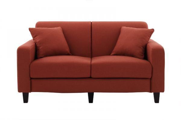 赤いソファー通販 シンプルソファ『【Colorful Living Selection LeJOY】リジョイシリーズ スタンダードタイプ カッパーレッド』