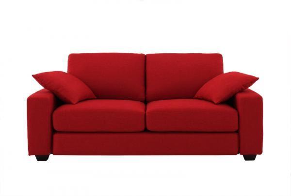 赤いソファー通販 シンプルソファ『【Colorful Living Selection LeJOY】リジョイシリーズ ワイドタイプ サンレッド』